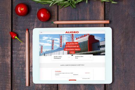 Page d'accueil du site Aligro