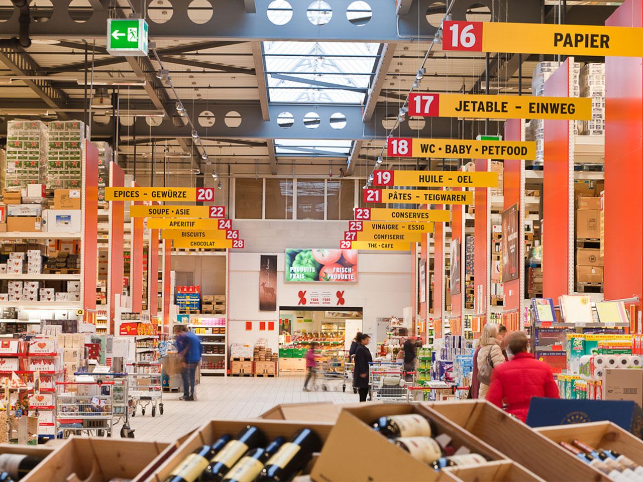 Halle du marché ALIGRO de Matran en 2017