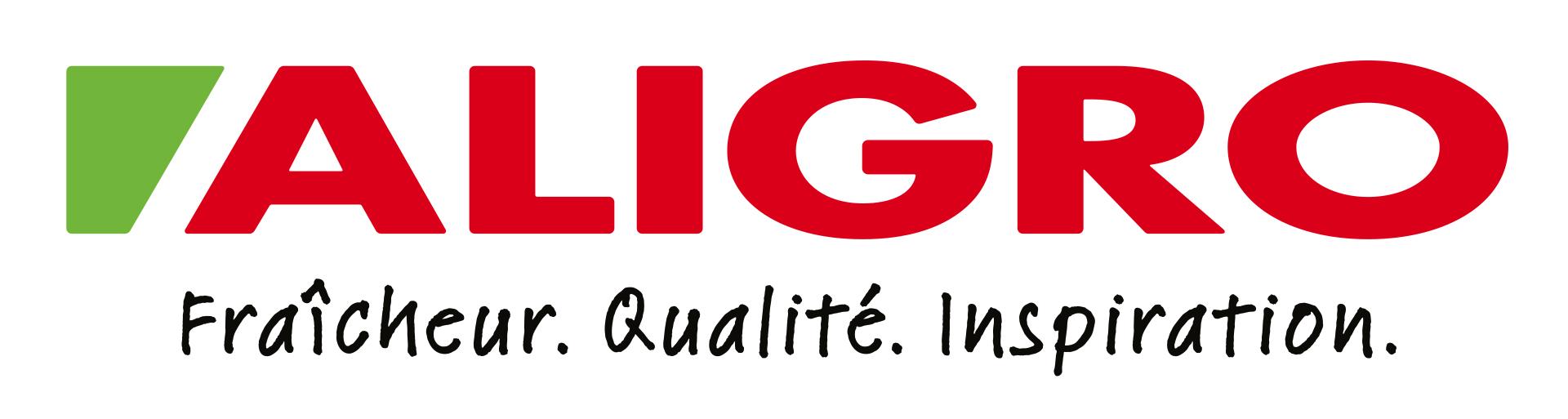 Logo ALIGRO avec slogan, RGB